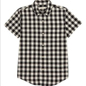 Boys Tucker + Tate plaid button down shirt size 10